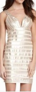 Allen Schwartz Prive, Gold Sequin Dress
